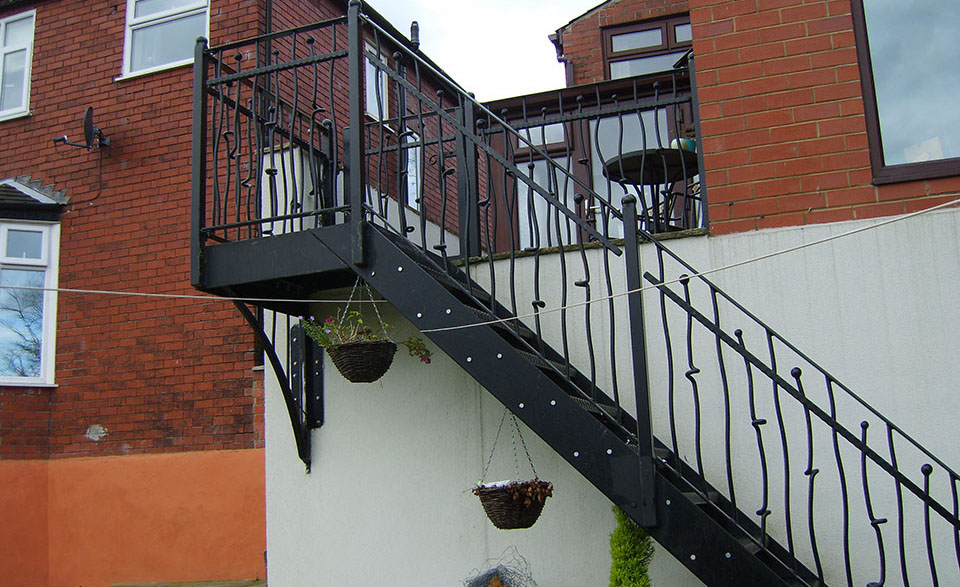 Bespoke wrought iron staircase